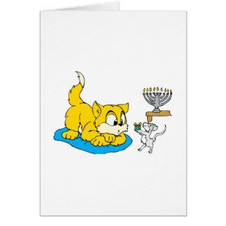 Cartão Gato & rato