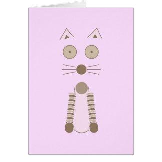 Cartão Gato simples
