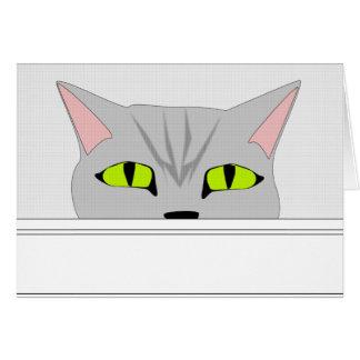 Cartão Gato Sneaky 2