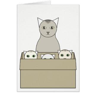 Cartão Gato-Temático do dia das mães