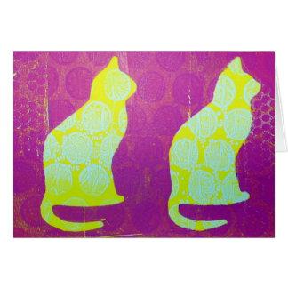 Cartão Gatos das bolinhas