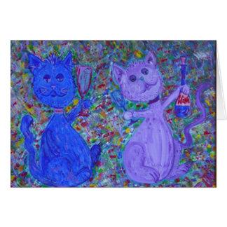Cartão - gatos espirituosos