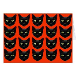 Cartão Gatos pretos