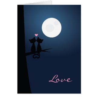 Cartão Gatos românticos