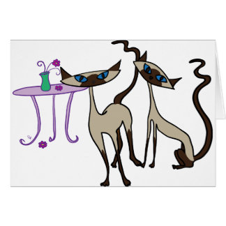 Cartão Gatos Siamese