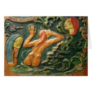 Cartão Gauguin: Cinzeladura de Tahiti