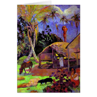 Cartão Gauguin - porcos pretos
