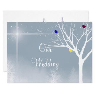Cartão Gay azul do inverno/convite feito sob encomenda
