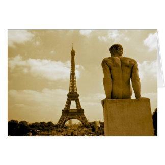 Cartão Gay da torre Eiffel do aniversário
