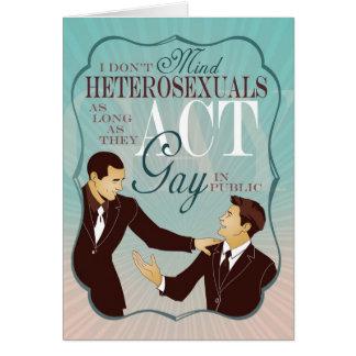 Cartão Gay do ato