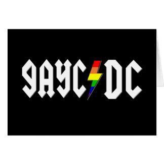 Cartão GayC/DC no preto