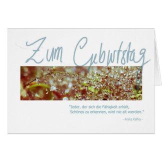 "Cartão Geburtstagskarte ""Kafka Waterberries """