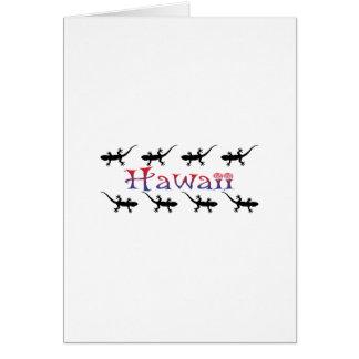 Cartão gecos do hawai