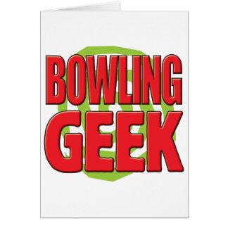 Cartão Geek da boliche