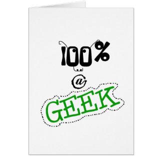 Cartão Geek de 100 por cento