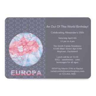 Cartão Geek do espaço da lua de Jupiters do Europa de Z
