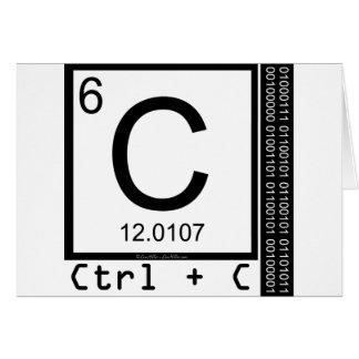 Cartão Geek mim! Cópia de carbono