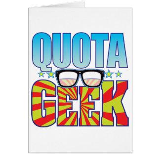 Cartão Geek v4 da quota