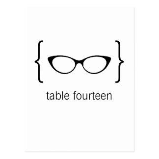 Cartão Geeky Bkgrd2b alaranjado do número da mesa