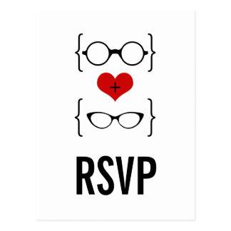 Cartão Geeky dos vidros RSVP