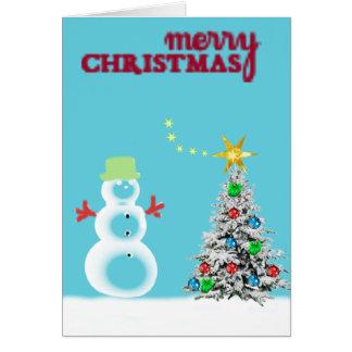 Cartão Gelado o boneco de neve