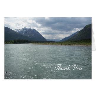 Cartão Geleiras e lago de Alaska