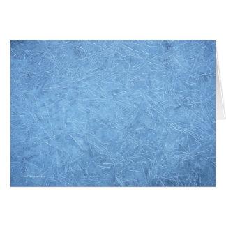 Cartão Gelo azul