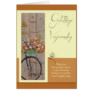 Cartão Gelukkige Verjaarsdag