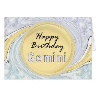 Cartão Gêmeos do feliz aniversario