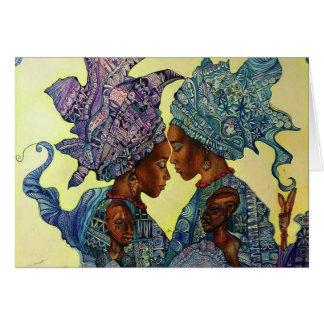 Cartão Gêmeos sagrados de Ibeji