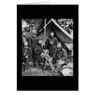 Cartão General George Stoneman & funcionarios nos