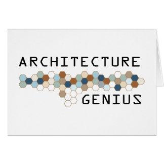 Cartão Gênio da arquitetura