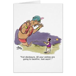 Cartão Génios que falam a Aladdin