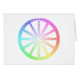 Cartão geometria da roda da evolução do polígono