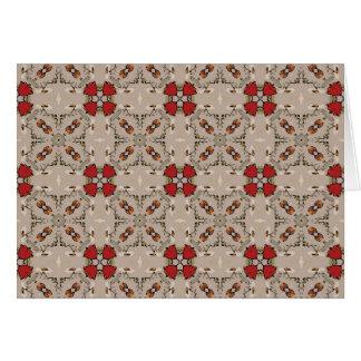 Cartão geométrico das tulipas vermelhas