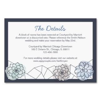 Cartão geométrico do cerco do casamento do