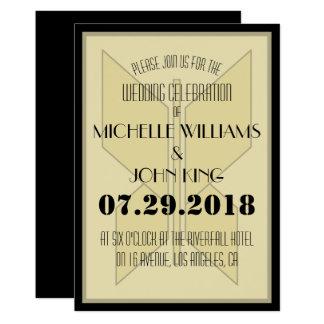 Cartão geométrico do convite do casamento da
