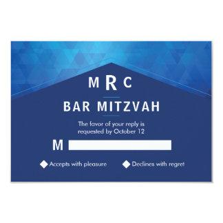 Cartão Geométrico elegante com bar Mitzvah da textura do