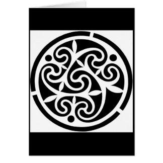 Cartão geométrico preto & branco