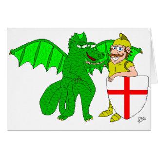 Cartão George e o dragão