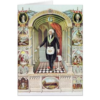 Cartão George Washington como um Freemason