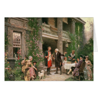 Cartão George Washington no jardim de Bartram