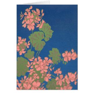 Cartão Gerânio cor-de-rosa Notecard