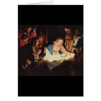Cartão Gerard camionete Honthorst Natividade