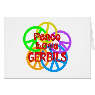 Cartão Gerbils do amor da paz