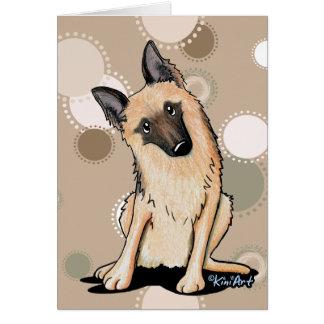 Cartão German shepherd curioso