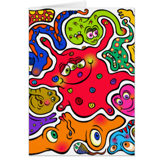 Cartão Germes da serra de vaivém
