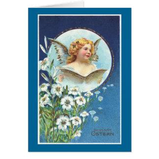 Cartão Gesegnete Ostern, páscoa abençoada