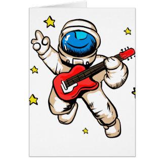 Cartão Gesto da vitória do astronauta