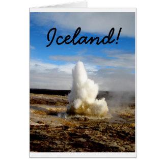 Cartão Geyser islandês